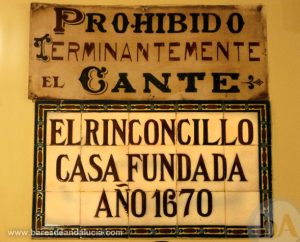 Azulejos en El Rinconcillo de Sevilla