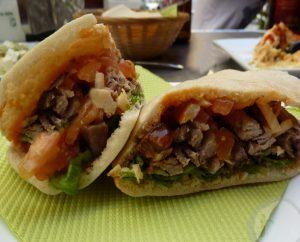 Kebab en el Pitta Bar Málaga